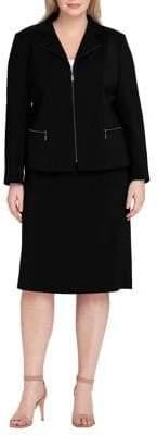 Tahari Arthur S. Levine Zippered Jacket and Skirt Suit