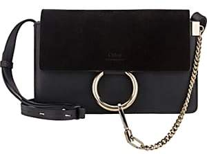 Chloé Women's Faye Small Leather Shoulder Bag - Black