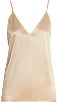 Raey V-neck silk-satin cami top