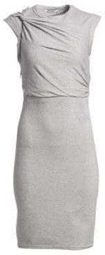 T by Alexander Wang Stretch Crepe Cutout Sheath Dress