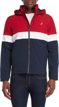 Nautica Color Block Hooded Jacket