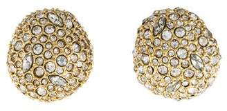Alexis Bittar Crystal Encrusted Button Post Earring