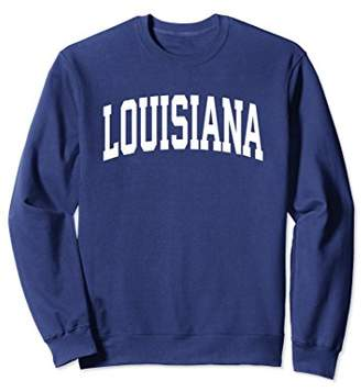 Louisiana Crewneck Sweatshirt Sports College Style State USA