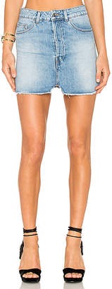 Iro . Jeans Taig Mini Skirt.