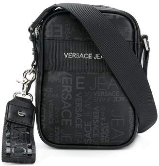 Versace logo zipped shoulder bag