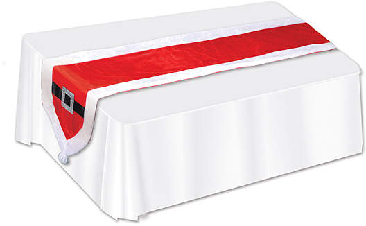 Santa Suit Fabric Table Runner