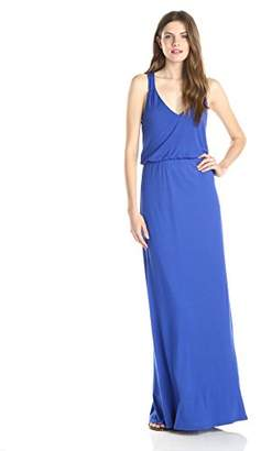 Lark & Ro Women's Sleeveless Racerback Knit Maxi Dress