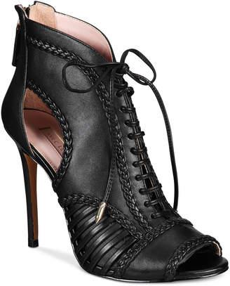 AVEC LES FILLES Joyce Lace-Up Open-Toe Shooties, Created for Macy's Women's Shoes