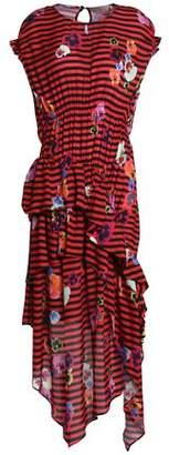Preen Line Asymmetric Draped Printed Crepe Dress