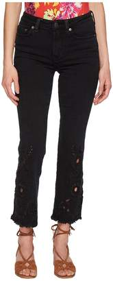 Free People Cutwork Cigarette Jeans - Black Women's Jeans