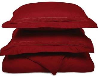 Superior Light Weight and Super Soft Brushed Microfiber, Wrinkle Resistant Duvet Cover with Regal Embroidered Pillow Shams