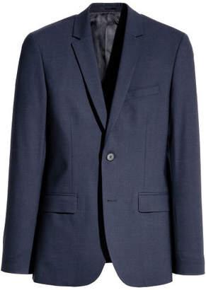 H&M Skinny Fit Wool Blazer - Blue
