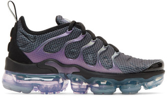 Nike Black and Purple Air Vapormax Plus Sneakers