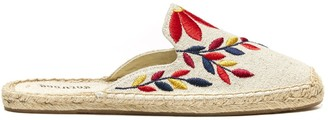 Sole Society Embroidered Floral Mule Espadrille Mule
