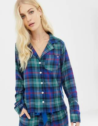 Abercrombie & Fitch plaid pyjama shirt with side panel