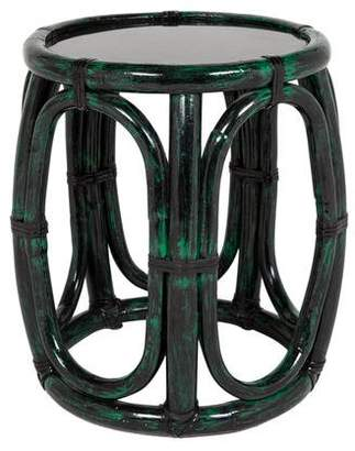 McGuire Furniture Painted Rattan Side Table