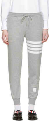 Thom Browne Grey Classic Four Bar Lounge Pants $570 thestylecure.com