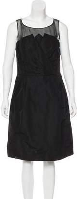 Oscar de la Renta Sleeveless Silk Dress