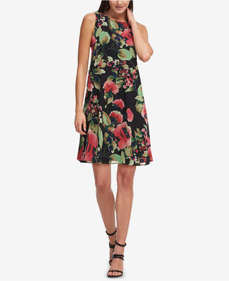 DKNY Floral-Print Trapeze Dress, Created for Macy's