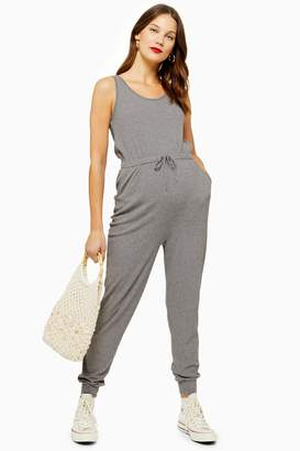 Topshop Womens **Maternity Ribbed Jumpsuit - Grey