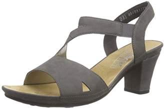 Rieker Women's 64368 Women Open Toe Open Toe Sandals Grey Size: