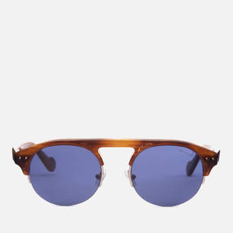 Moncler Men's Clubmaster Sunglasses - Light Brown/Other/Blue