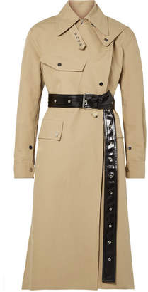 Helmut Lang Belted Cotton-canvas Trench Coat - Sand