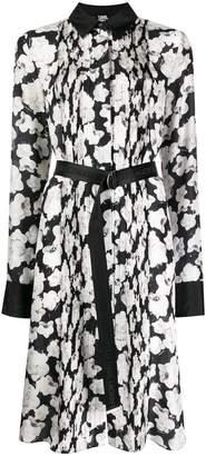 Karl Lagerfeld Paris orchid print shirt dress