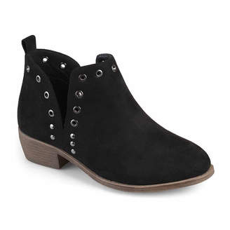 Journee Collection Womens Firth Booties Block Heel Pull-on