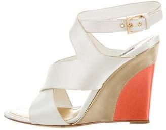 Louis Vuitton Satin Wedge Sandals