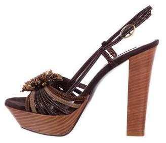 Andrew Gn Embellished Platform Sandals