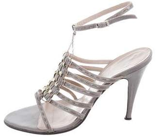 Fendi Patent Leather Multistrap Sandals
