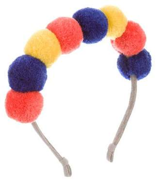 Tia Cibani Girls' Pom-Pom Headband w/ Tags