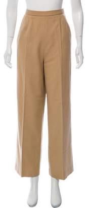 Oscar de la Renta High-Rise Pants Tan High-Rise Pants