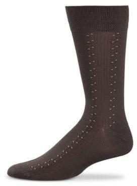 Black Brown 1826 Ribbed Microfibre Socks