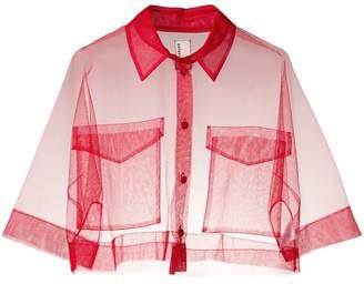 Antonio Marras cropped sheer shirt