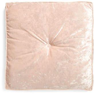 30x30 Tufted Square Velvet Floor Cushion