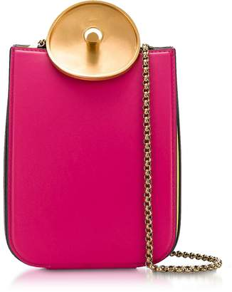 Marni Misty Rose, Black and Acid Leather Monile Shoulder Bag