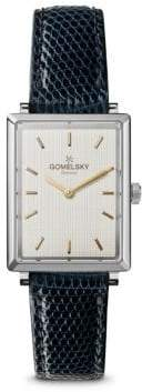 Gomelsky Shirley Fromer Silver-tone Leather Strap Watch