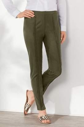 Soft Surroundings Rochelle Ruffle Ankle Pants