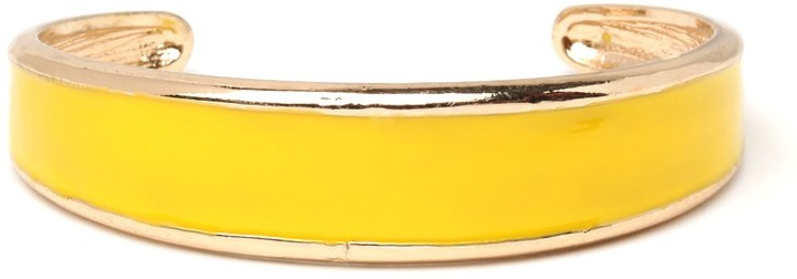 BaubleBar Lemon Citrus Twist Cuff