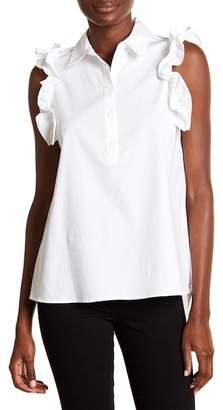 Cynthia Steffe CeCe by Collared Ruffle Shirt
