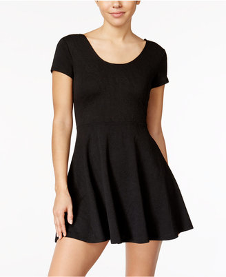 Planet Gold Juniors' Textured Fit & Flare Dress $34 thestylecure.com