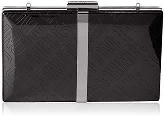 Love Moschino Borsa Embossed Tpu Nero, Women's Baguette,3x13x20 cm (B x H T)