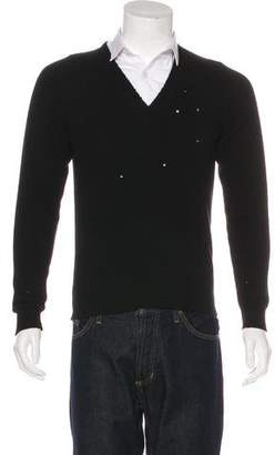 Givenchy Distressed Wool Sweater