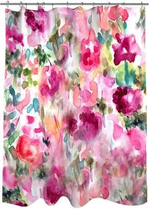 Oliver Gal In Wonderland Shower Curtain