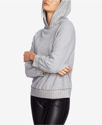 1 STATE 1.state Cozy Ribbed-Trim Hoodie