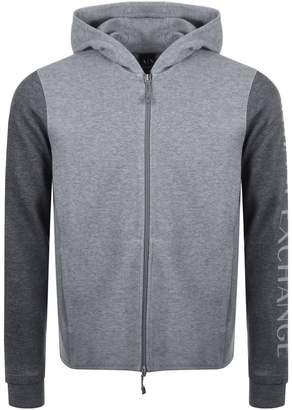 Armani Exchange Full Zip Hoodie Grey