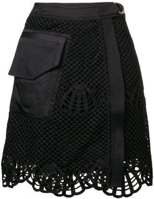 Self-Portrait wrap front mini skirt