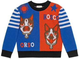 Gucci Children's Bosco and Orso wool sweater